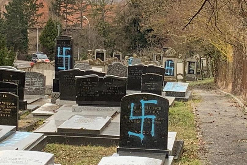 Antisemitic vandalism discovered at Mass  cemetery - Jewish